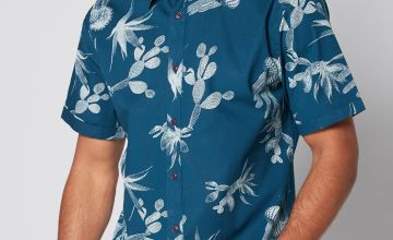 Only and Sons Cactus Print Short Sleeve Shirt