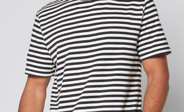Only and Sons White Striped T-Shirt