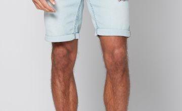Only and Sons Light Blue Denim Shorts