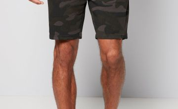 Jack and Jones Camo Sweat Shorts Camo