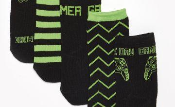 Boys Pack of 5 Gamer Socks