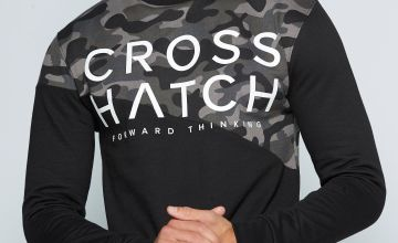 Crosshatch Crew Neck Camo Sweatshirt