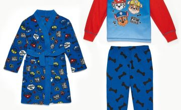Young Boys Paw Patrol One Team Pyjamas and Dressing Gown