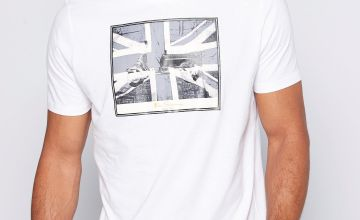 Ben Sherman Flag Logo White T-Shirt