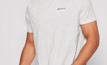 Ben Sherman Black/White Polka Dot T-Shirt