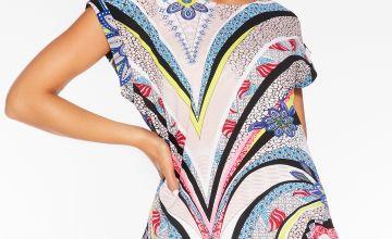 Quiz Multi Coloured Pucci Print Top