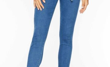 Quiz High Waisted Tie Belt Denim Jeans