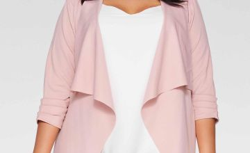 Quiz Curve Dusky Pink Waterfall Jacket
