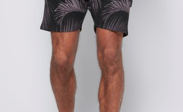 Graded Leaf Print Shorts
