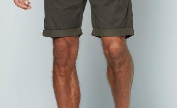 Mens Jaquard Khaki Print Shorts