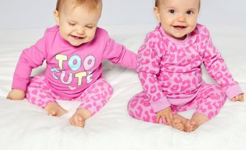 Baby Girls Pack of 2 Too Cute Leopard Sweatshirts