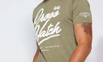 Crosshatch Script Logo T-Shirt