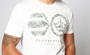Crosshatch Crew Neck Logo T-Shirt