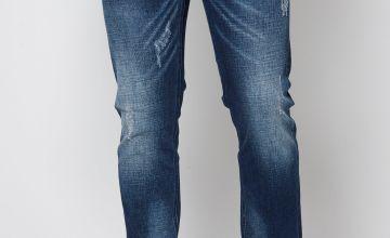 Crosshatch Blue Jeans