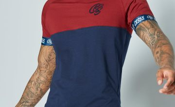 CRS55 Colour Block Crew Neck T-Shirt