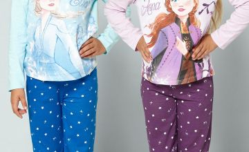 Young Girls Pack of 2 Frozen 2 Elsa and Anna Pyjamas