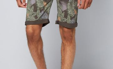 Crosshatch Floral Print Chino Shorts