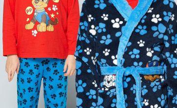 Young Boys Paw Patrol Chase Pyjamas and Robe Combo