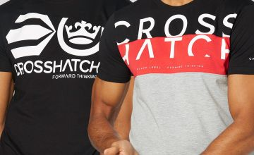 Crosshatch Pack of 2 Large Branding T-Shirts