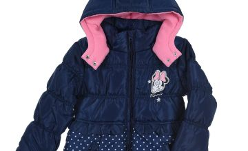 Girls Minnie Mouse Padded Coat