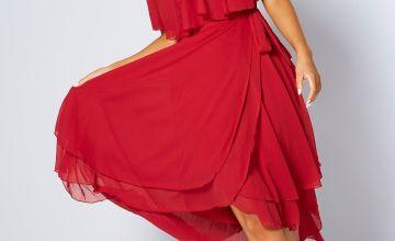 Boho Layered Chiffon Dress