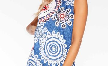 Quiz Aztec Print Sleeveless Shift Dress