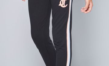 Girls Juicy Couture Gothic Script Black Joggers