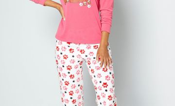 Santa Paw Pink Pyjamas and Eyemask Set