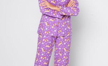 Sausage Dog Christmas Flannel Pyjamas