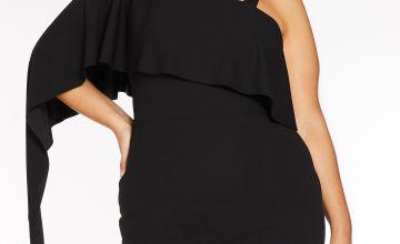 Quiz Curve One Shoulder Side Split Dress