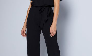 Jersey Crepe Belted Jumpsuit