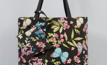 Butterfly Canvas Tote Bag with Matching Purse