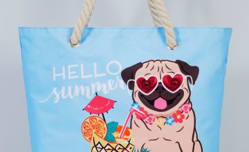 Pug Cocktail Beach Bag