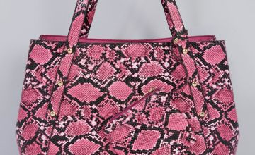 Shopper Tote Handbag with Matching Purse