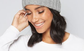 Grey Marl Mini Pom Pom Beanie Hat