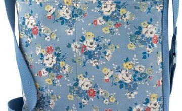 Cath Kidston Zipped Vintage Blue Messenger Bag