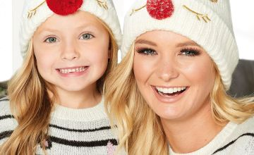 Christmas Girls Bobble Hat