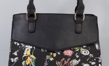Sketch Floral Black Grab Bag