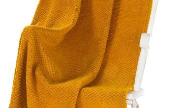 Textured Popcorn Fleece Throw