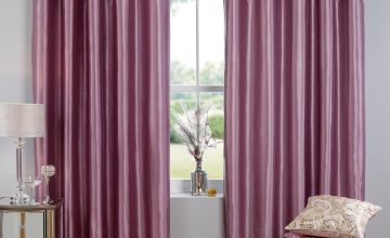 Butterfly Sequin Top Border Lined Eyelet Curtains
