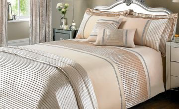 Velvet Glitter Stripe Double Bedroom Ensemble