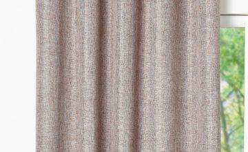 Linen Look Lined Eyelet Curtains