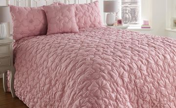 Rouched Floral Bedspread with FREE Pillowshams