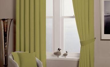 Alice Waffle Lined Eyelet Curtains