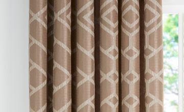 Trellis Geo Jacquard Lined Eyelet Curtain