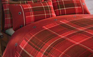 Arron Check Brushed Cotton Flannelette Duvet Set