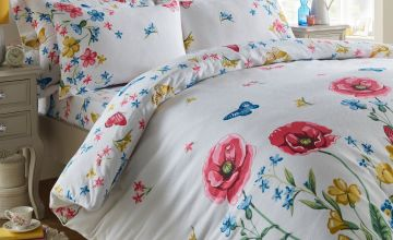 Country Flower Brushed Cotton Bedding Set