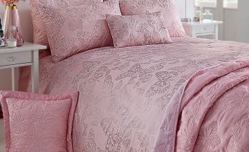 Metallic Butterfly Bedspread