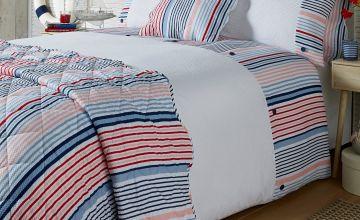 Hanover Stripe Seersucker Double Duvet Set