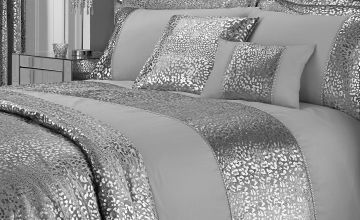 Luxury Leopard Metallic Velvet Pencil Pleat Lined Curtains